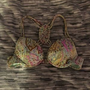 Paisley push up bikini top